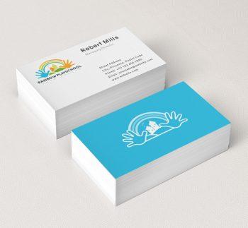 Education logos archives the design love rainbow play school logo business card template reheart Choice Image
