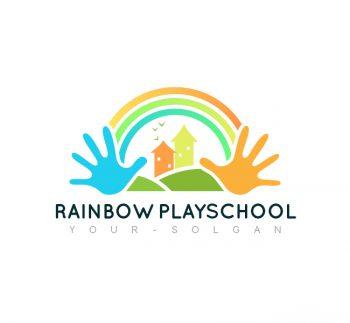 Rainbow Play School Logo & Business Card Template