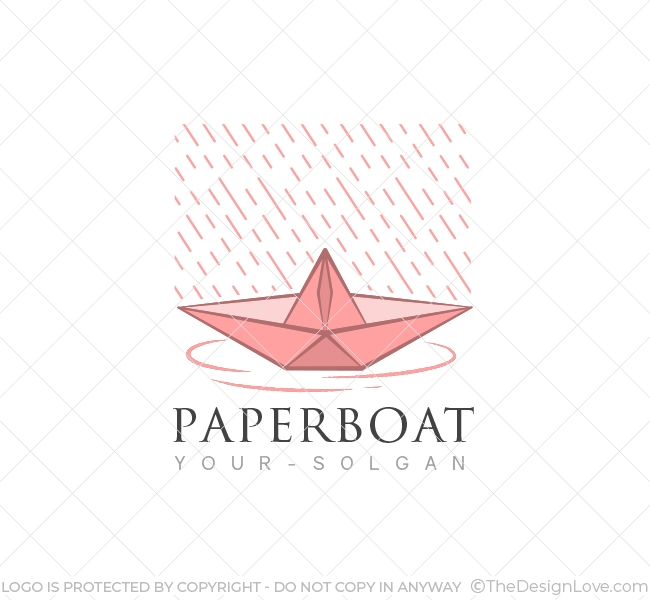 Paper Boat Logo Business Card Template