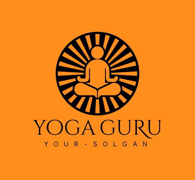 Yoga-Trainer-Stock-Logo