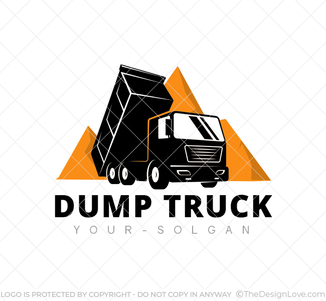 heavy dump truck logo business card template the design love