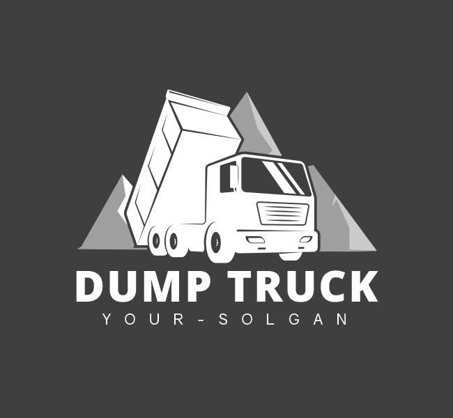 Heavy-Dump-Truck-Pre-Designed-Logo