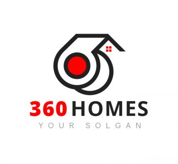 360 House Logo & Business Card Template