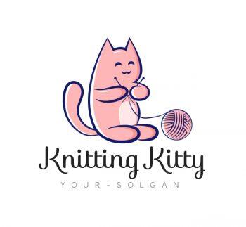 Kitty Knitting Logo & Business Card Template