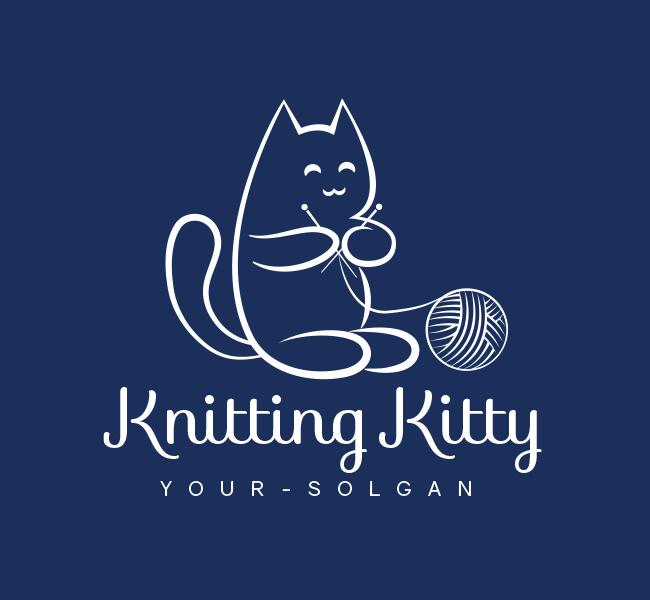 Kitty-Knitting-Pre-Designed-Logo