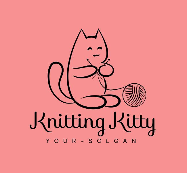 Kitty-Knitting-Stock-Logo