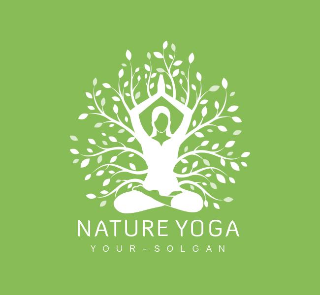 Nature-Yoga-Pre-Designed-Logo