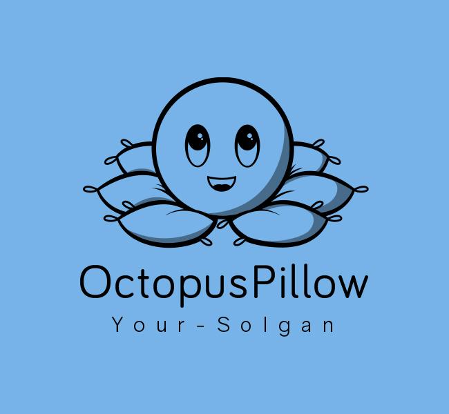 366-Octopus-Pillow-Stock-Logo