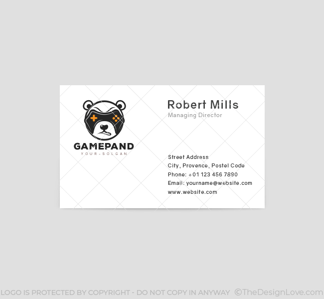 Game-Panda-Business-Card-Template-Front