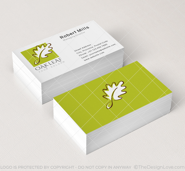 Oak Leaf Restaurant Logo Business Card Template The Design Love