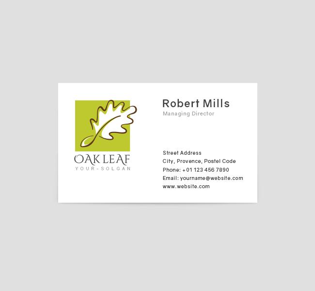 370-Oak-Leaf-Restaurant-Business-Card-Template-Front