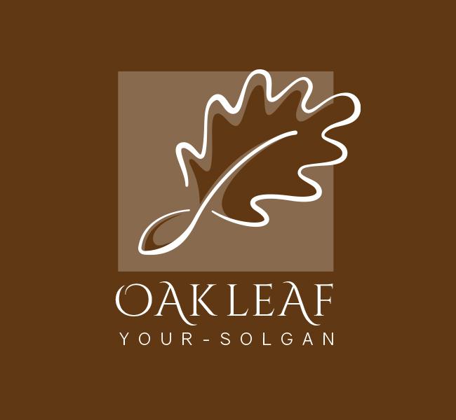 Oak-Leaf-Restaurant-Pre-Designed-Logo