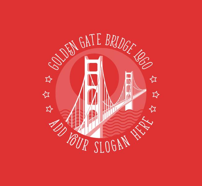 Golden-Gate-Bridge-Pre-Designed-Logo