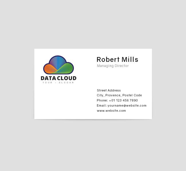 Data-Cloud-Restaurant-Business-Card-Template-Front