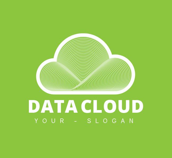Data-Cloud-Restaurant-Pre-Designed-Logo