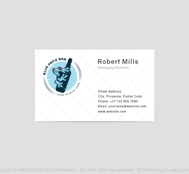 Blue-Frog-Pub-Business-Card-Template-Front