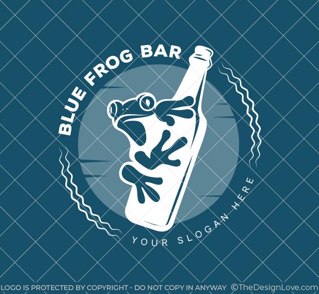 Blue-Frog-Pub-Pre-Designed-Logo