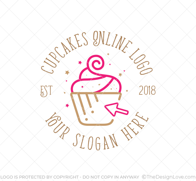 online cupcake logo business card template the design love