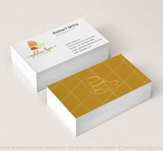 spa logo business card template - Spa Business Cards