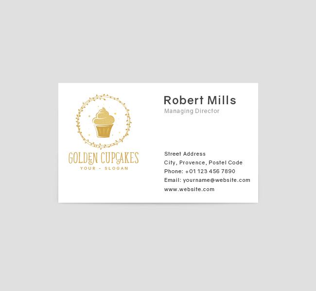 388-Golden-Cupcake-Business-Card-Template-Front