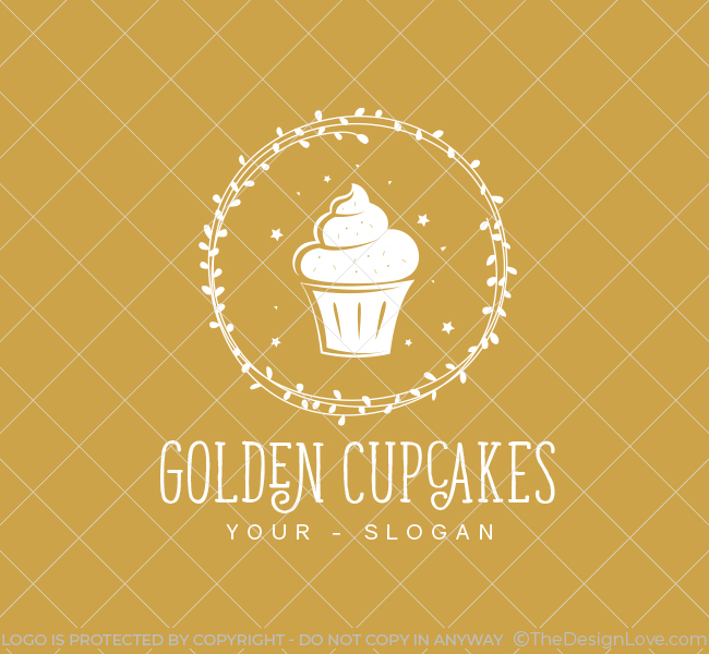 388-Golden-Cupcake--Pre-Designed-Logo