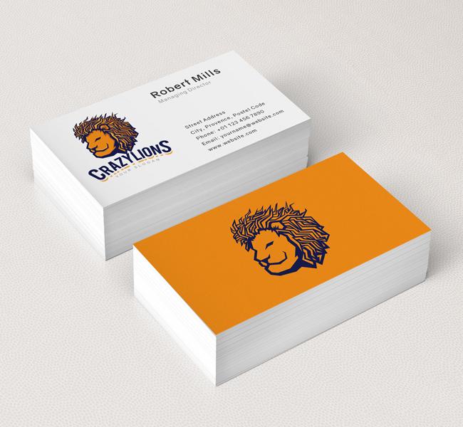 Lion-Face-Business-Card-Mockup