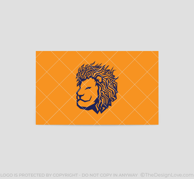 Lion-Face-Business-Card-Template-Back