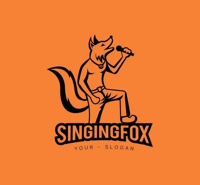 Singing-Fox-Stock-Logo
