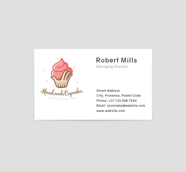 394-Handmade-Cupcake-Business-Card-Template-Front