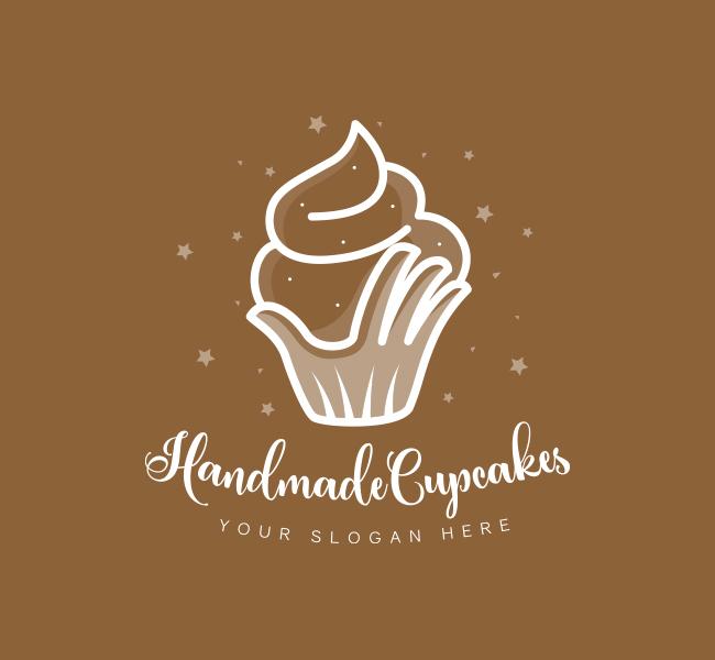 Handmade-Cupcake-Pre-Designed-Logo