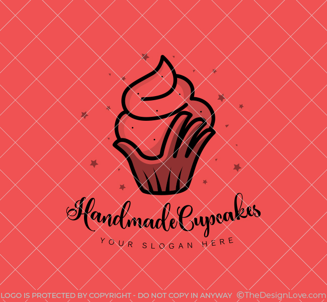 Handmade-Cupcake-Stock-Logo
