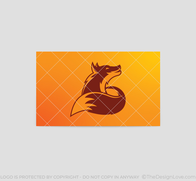397-Howling-Fox-Business-Card-Template-Back