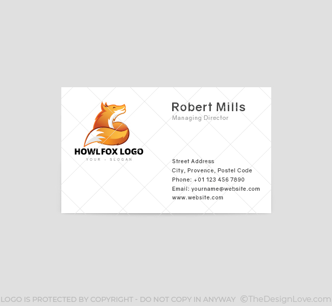 397-Howling-Fox-Business-Card-Template-Front