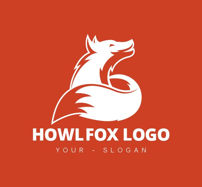 397-Howling-Fox-Pre-Designed-Logo