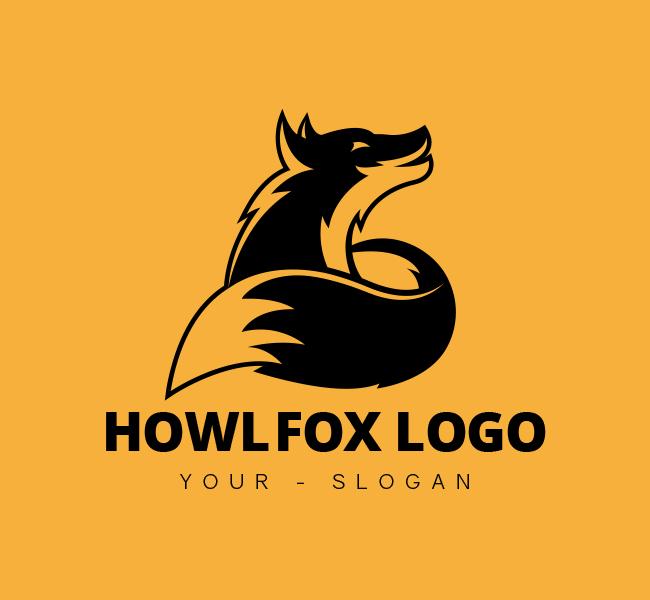 397-Howling-Fox-Stock-Logo