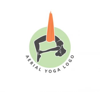 Aerial Yoga Logo & Business Card Template