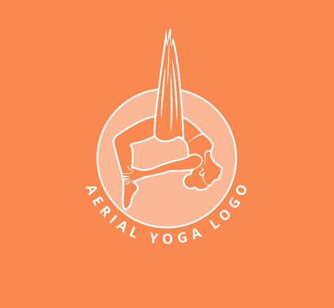Aerial-Yoga-Pre-Designed-Logo