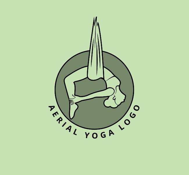 Aerial-Yoga-Stock-Logo
