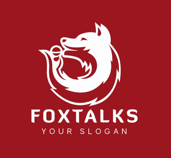 Fox-Talk-Pre-Designed-Logo