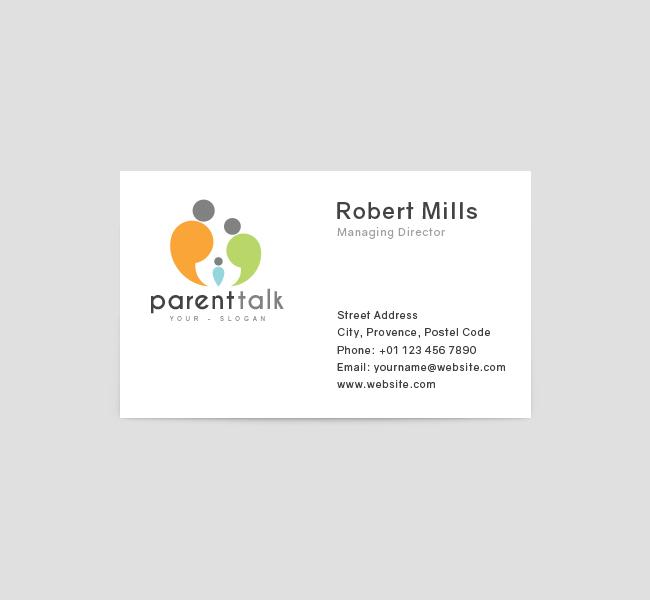 Parent-Talk-Business-Card-Template-Front