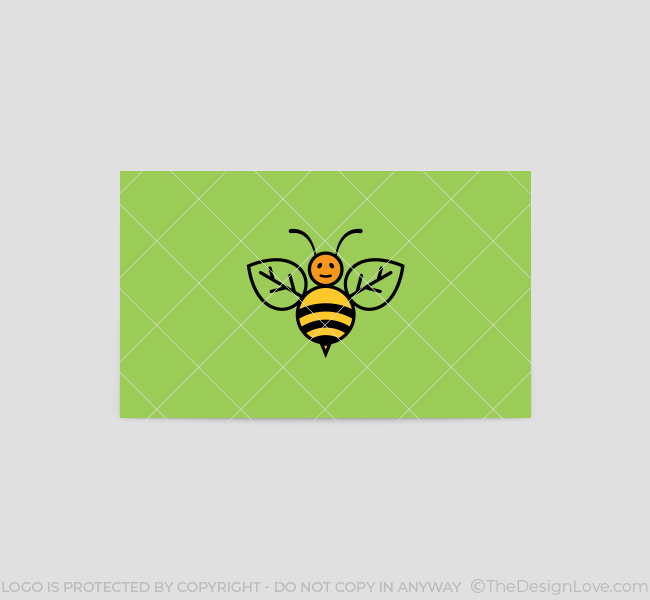 Green-Bee-Business-Card-Template-Back