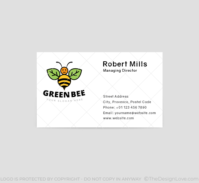 Green-Bee-Business-Card-Template-Front