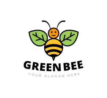 Green Bee Logo & Business Card Template