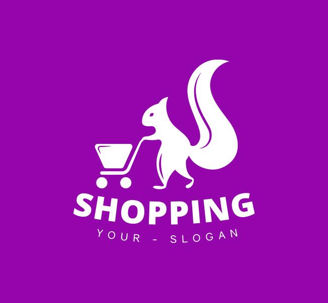 Shopping-Squirrel-Pre-Designed-Logo