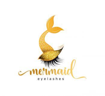 Mermaid Eyelash Logo & Business Card Template