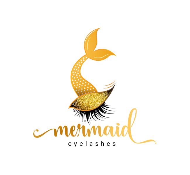 Mermaid-Eyelash-Logo-Template