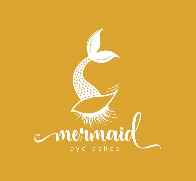 Mermaid-Eyelash-Pre-Designed-Logo