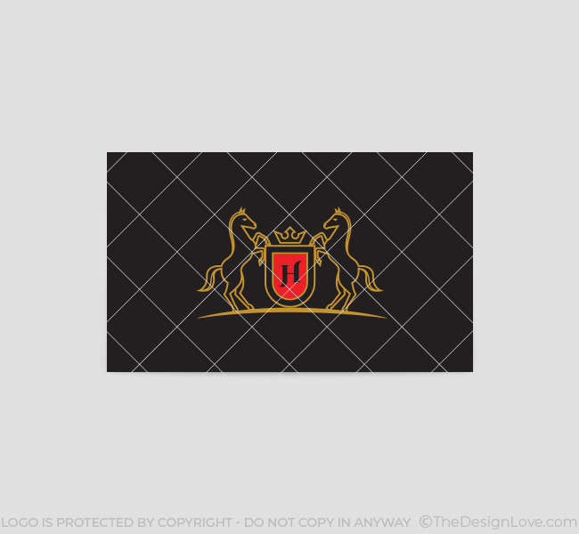 Horse-Shield-Business-Card-Template-Back