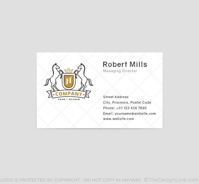 Horse-Shield-Business-Card-Template-Front
