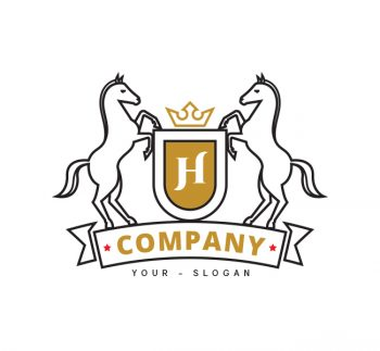 Horse Shield Logo & Business Card Template